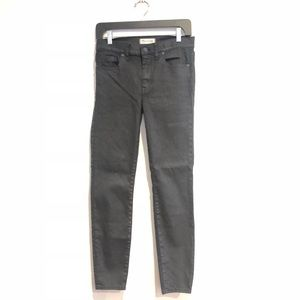 Madewell high rise skinny jeans waxed jeans 28